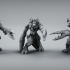 Claw Handed Demon - Greater Demon - 32 mm scale table top miniature image