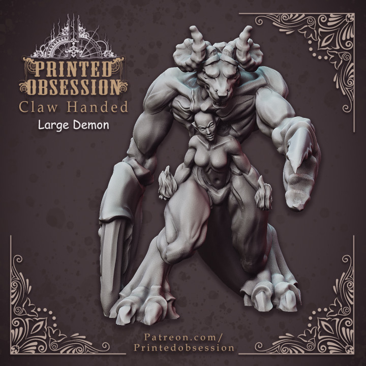 Claw Handed Demon - Greater Demon - 32 mm scale table top miniature (Pre-supported)