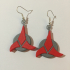 Star Trek Klingon Trefoil Earrings image