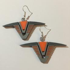 Stargate Chevron Earrings