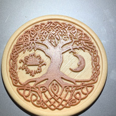 Picture of print of Celtic tree of Life drink-coaster (version 2)
