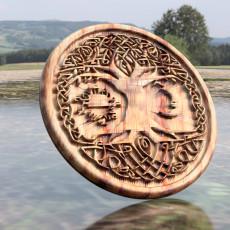 Celtic tree of Life drink-coaster (version 2)