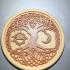 Celtic tree of Life drink-coaster (version 2) print image