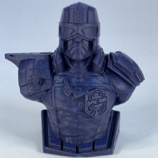 Picture of print of Judge Dredd (Support free bust)