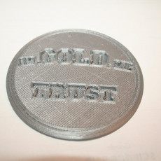 Picture of print of In gold we trust drinkcoaster