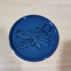 Picture of print of Dragonhead drinkcoaster