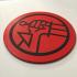 Hellboy BPRD Logo Coaster image
