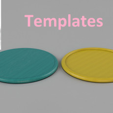 Templates for coasters