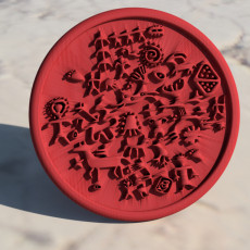 Coaster with ancient cave painting (pair)