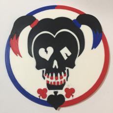 Harley Quinn Logo Coaster