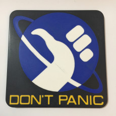 Hitchhiker's Guide to the Galaxy 'Don't Panic' Logo Coaster