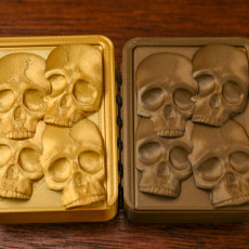 Picture of print of Skull Slide Top Box