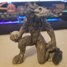 Picture of print of Hell Wolf - Bone - Hell Hath No Fury - Scale 32mm  (Pre-supported)