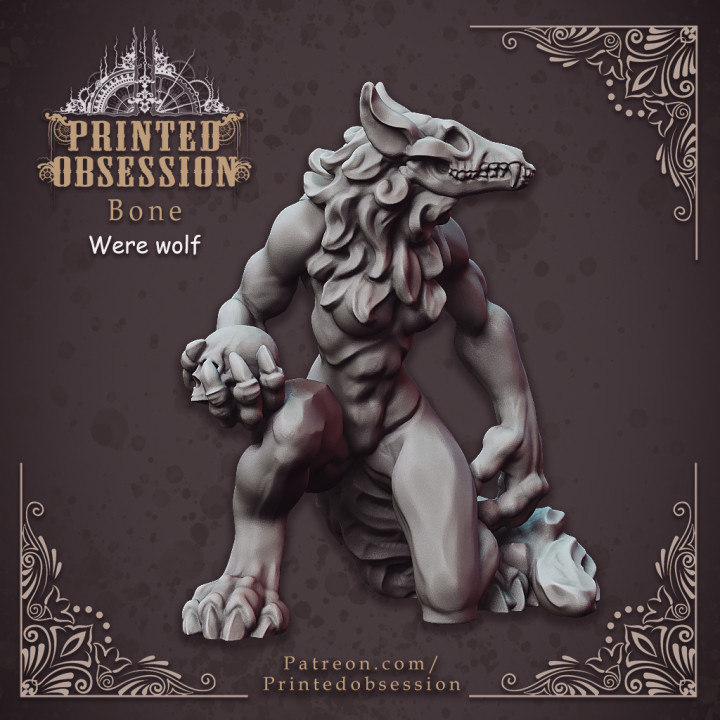 Hell Wolf - Bone - Hell Hath No Fury - Scale 32mm (Pre-supported)