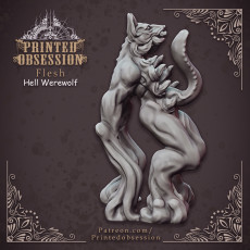Hell Wolf - Flesh - Hell Hath No Fury - Scale 32mm  (Pre-supported)