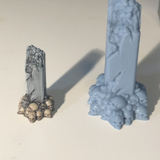 Picture of print of Pillars - Scatter Terrain - Hell Hath No Fury - scale 32mm  (Pre-supported)