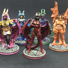 Picture of print of Succubi & human 'Diva' - lesser demon - Hell Hath No Fury - 32mm scale