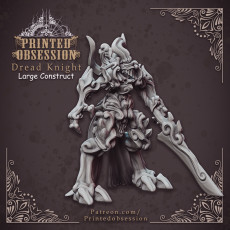 Dread Knight - Large Monster - Hell Hath No Fury - 32mm Scale (Pre-supported)