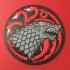 House Stark & House Targaryen Sigil Coaster image