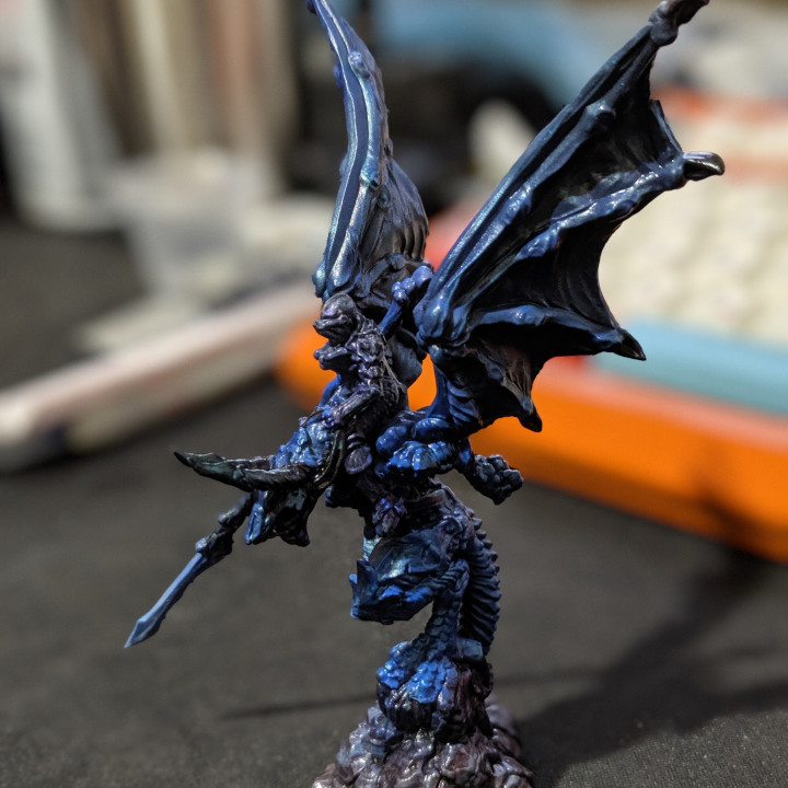 Dragon Rider - Large Dragon - Hell Hath No Fury - 32mm Scale (Pre-supported)