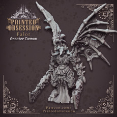 Falor - Greater Demon - Hell Hath No Fury - 32mm Scale (Pre-supported)
