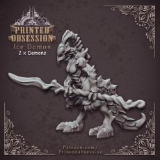 Ice Demon - Small Devil - Hell Hath No Fury - 32mm scale (Pre-supported)