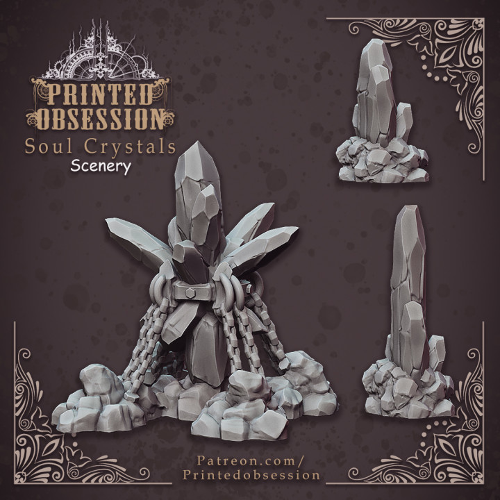 Soul Crystals - Scenery - Hell Hath No Fury - 32mm scale (Pre-supported)