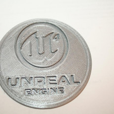 Picture of print of Unreal Engine 4 coaster (pair)