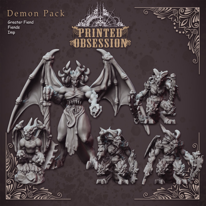 Demon Pack - Mixed Fiends - Hell Hath No Fury - 32mm Scale