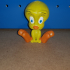 Tweety Bird from Looney Tunes (support free) print image
