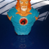 """Lion-O from """"Thundercats"""" (support free bust) print image"""