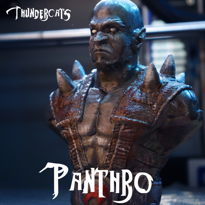 """Panthro from """"Thundercats"""" (support free bust)"""