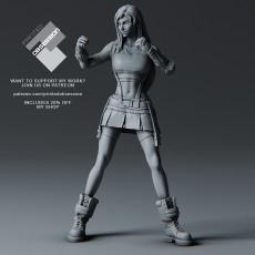 Tifa Lockhart - Combat Stance - Final Fantasy 7 Remake - 32cm model*