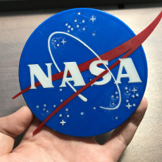 Picture of print of NASA Logo Coaster