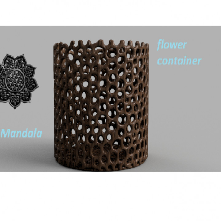 Celtic mandala flower container