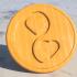 Yin Yang hearts coaster image
