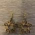 Tribal sun earrings image