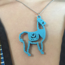 Picture of print of Llama earrings