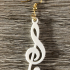Musical note earrings image