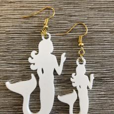 Mermaid earrings (two files!)