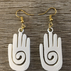 Mayan hand earrings