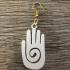 Mayan hand earrings image