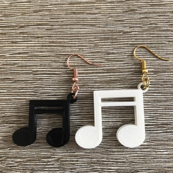 Sixteenth note earrings (two files!)