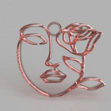 Artistic face earring