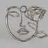 Artistic face earring image