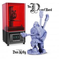 The Dwarf Bard - By Dan Kelly (Elegoo Mars Free Edition)