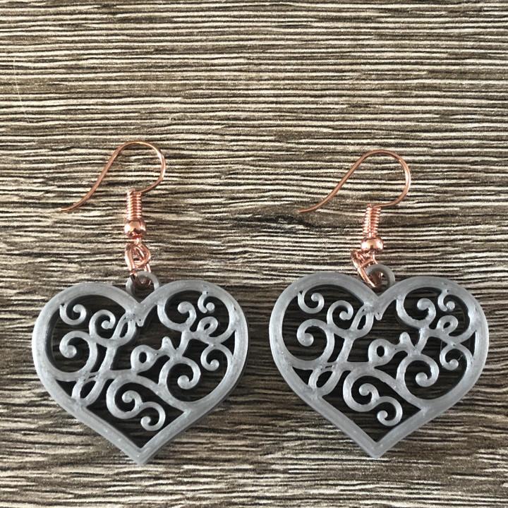 L.O.V.E. earrings