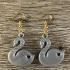 Swan earrings image