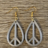 Peace earrings image