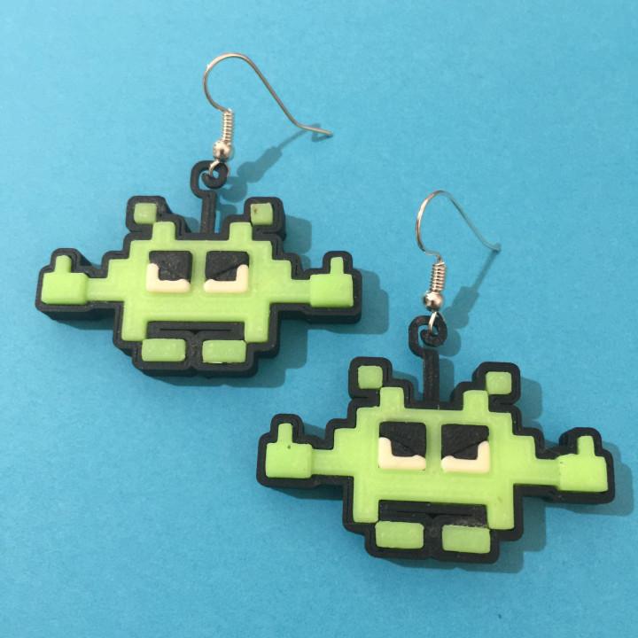 Salty Space Invader Earrings